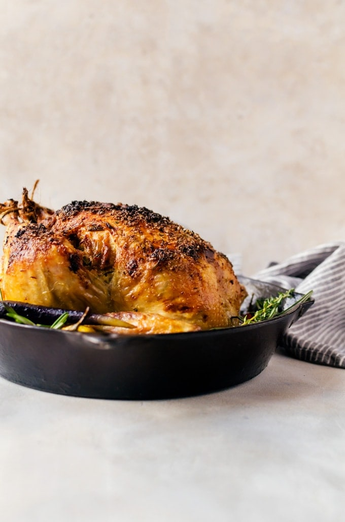 A tender and juicy garlic roasted chicken that is packed with flavor in every bite. Dinner just got a whole lot more delicious