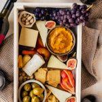 Autumn Cheeseboard and JaM Cellars Wine