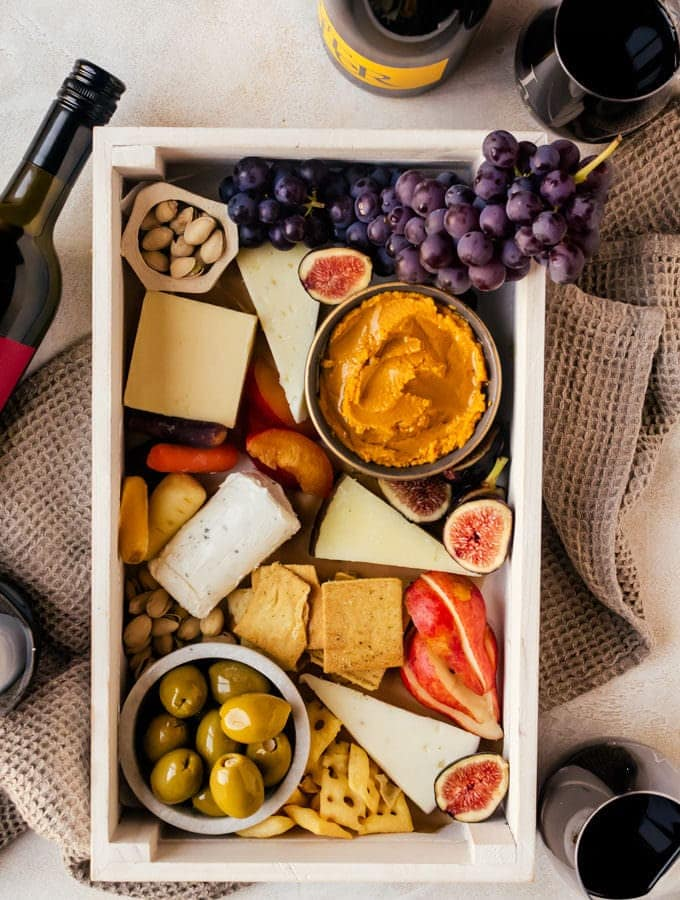 Autumn Cheeseboard and JaM Cellars Wine