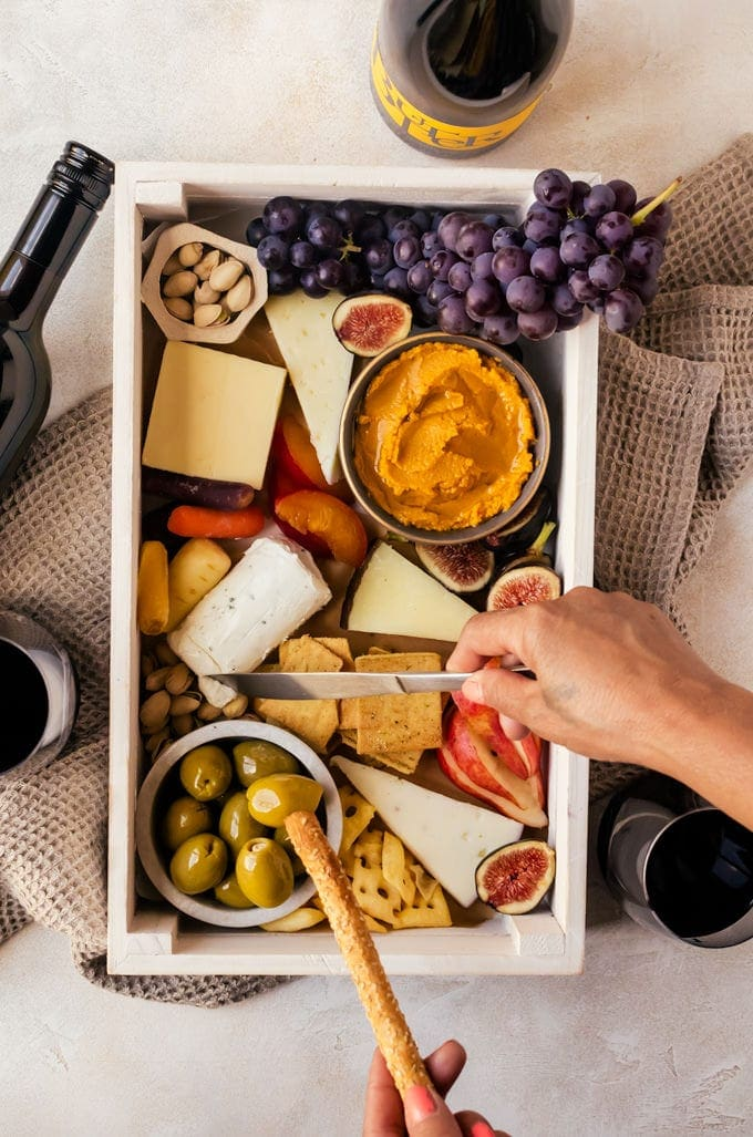 A simple and delicious autumn cheeseboard perfect for cozying up with along with a glass of wine and good company