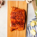 Cedar Plank Grilled Barbecue Salmon