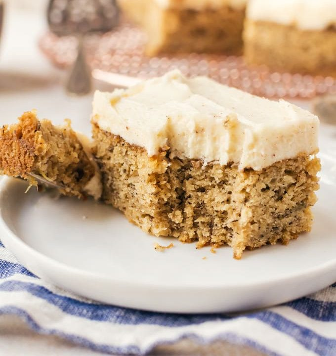 There is no resisting this brown butter banana cake with brown butter frosting. You won't want to share this with anyone!