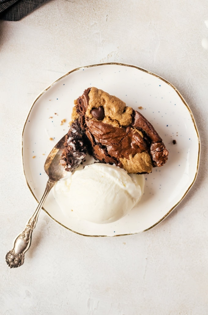 Let's all agree that cookie dough brownies are the most amazing dessert to happen to dessert