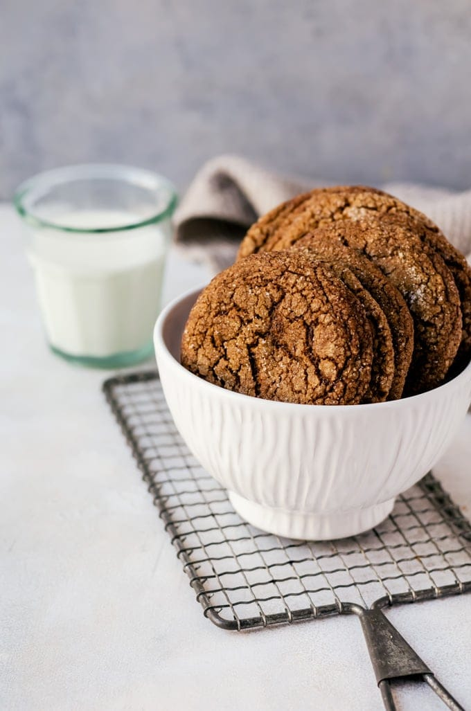 Soft, chewy molasses cookies with just the right balance of flavors