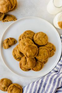 Treat yourself to a batch of brown butter pumpkin snickerdoodles
