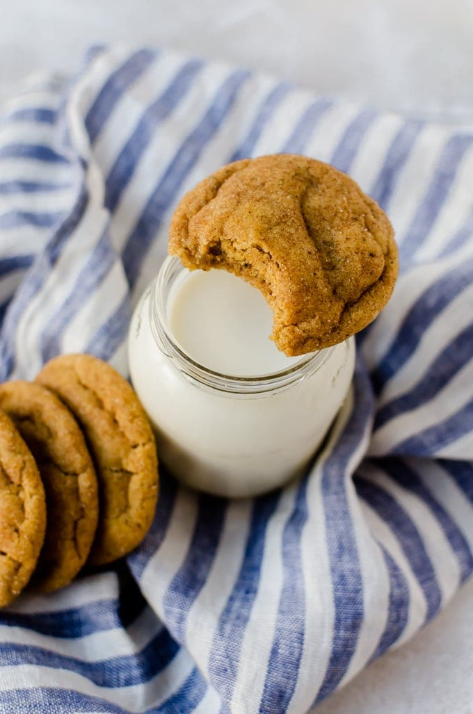 Brown butter pumpkin snickerdoodles, the best fall cookie recipe to bake up with the family