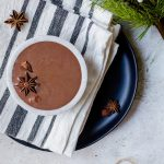 Cozy up with a warmly spiced chai hot chocolate this winter #chai #chocolate