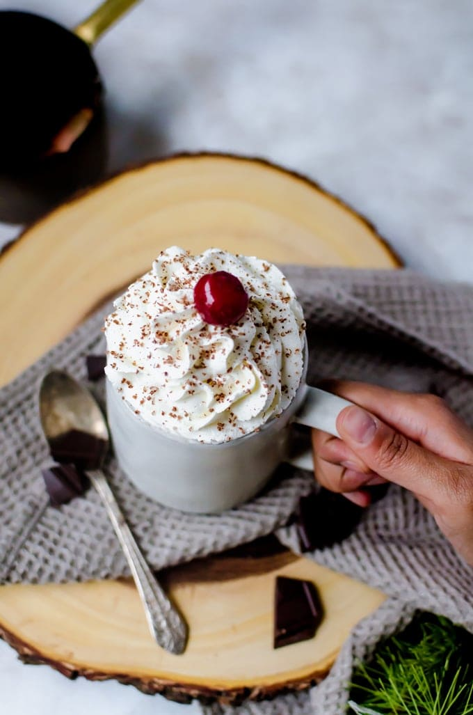 cherry hot chocolate recipe that you will want to keep forever