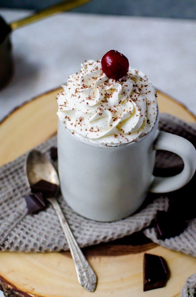 This cherry hot chocolate aka black forest hot chocolate will be your new winter favorite