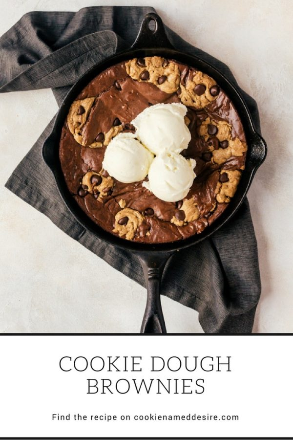 Grab a spoon and dig into this fudgy cookie dough brownie