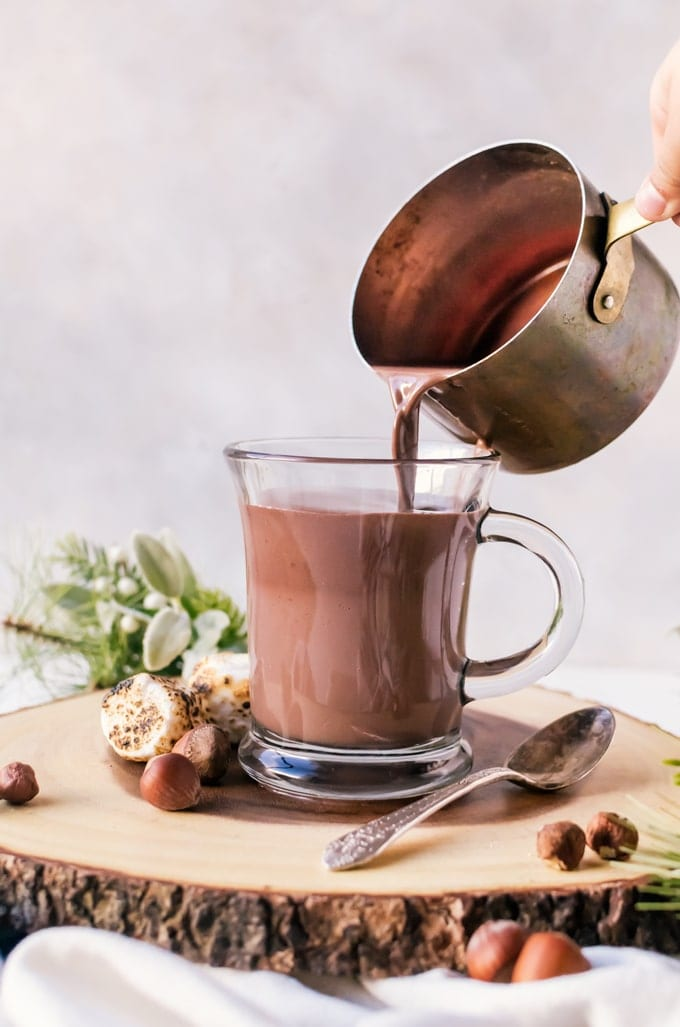 Super thick and creamy nutella hot chocolate #nutella #hotchocolate