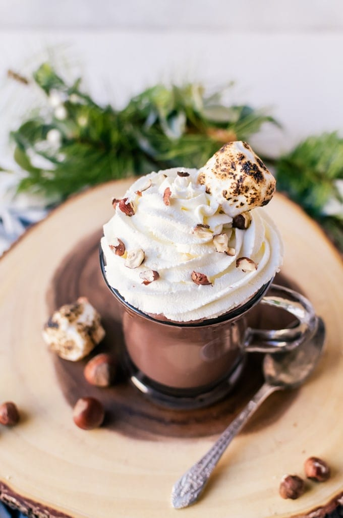 There isn't anything better than making a Nutella hot chocolate. It only takes a few ingredients and will be a new favorite.