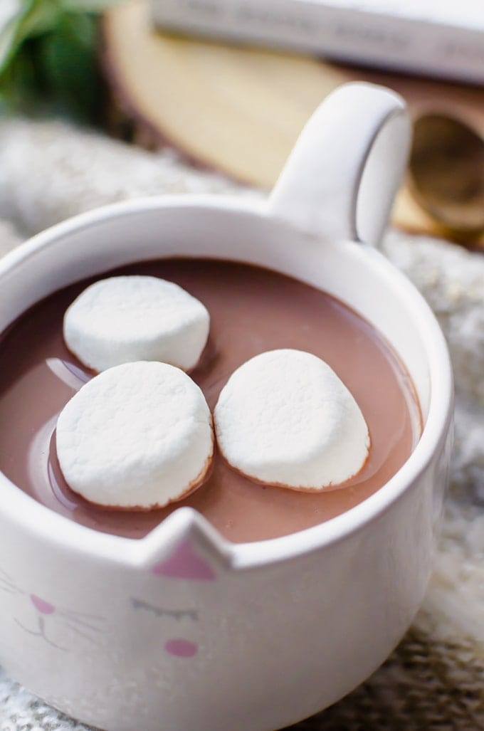 Keep warm and toasty with this sweet and spicy hot chocolate