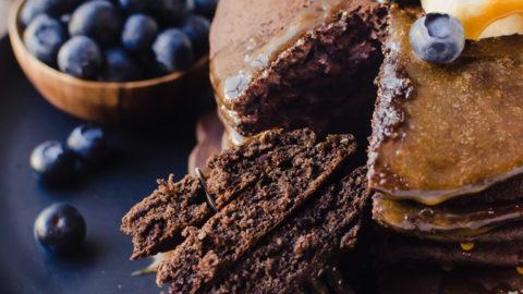 Chocolate Buckwheat Pancakes