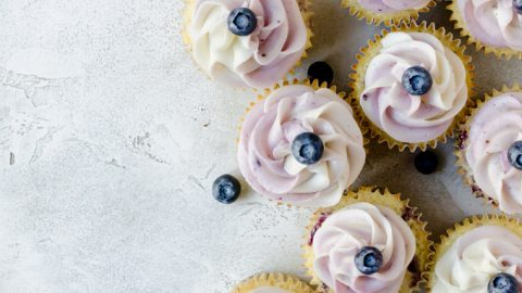 There isn't anything better than a lemon blueberry cupcake the make your day a bit sweeter!