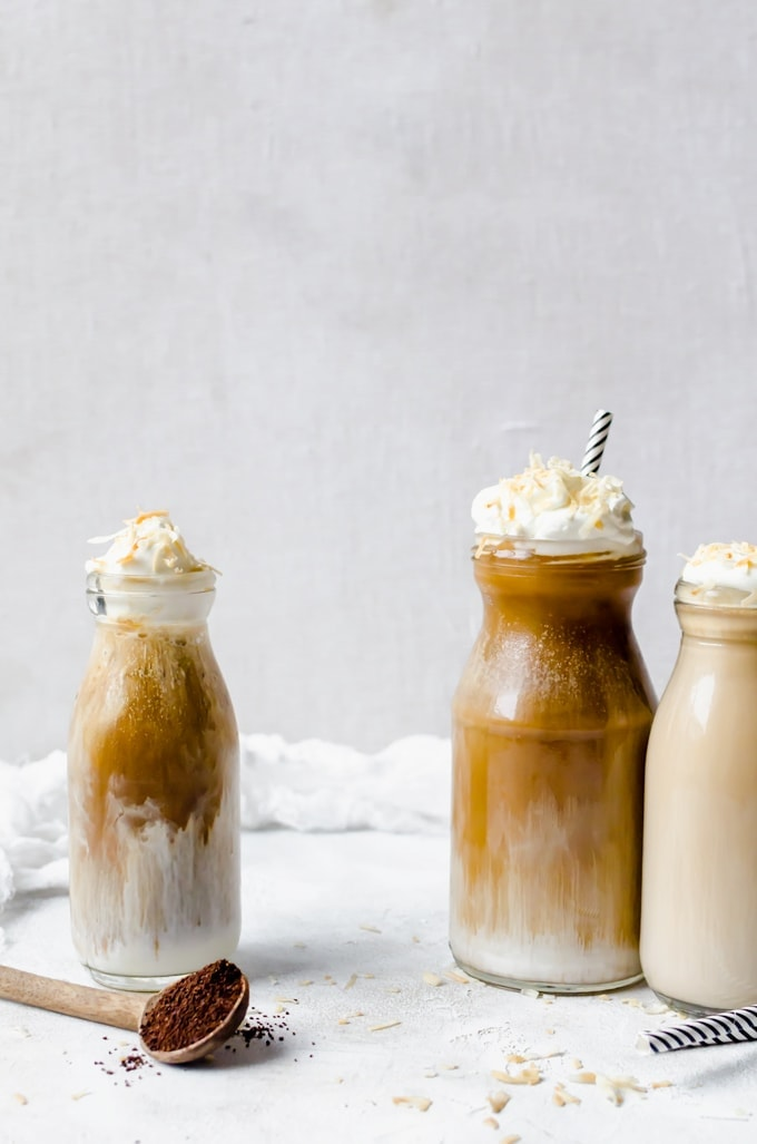 open shot coconut mocha macchiato