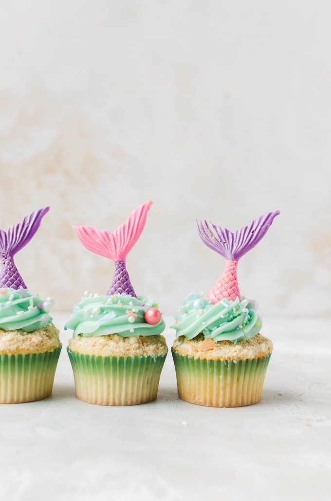 Make a splash with these mermaid cupcakes. This super easy cupcake recipe will be the talk of your next party