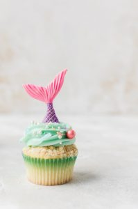 single mermaid cupcake