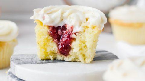 strawberry rose cupcakes