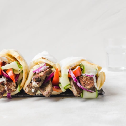 Greek lab gyros are not just for when you go out. These tasty sandwiches are easier to make than you think! #gyro #lamb #greek