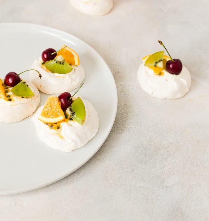 Hang out with a glass of wine and some mini pavlova this summer