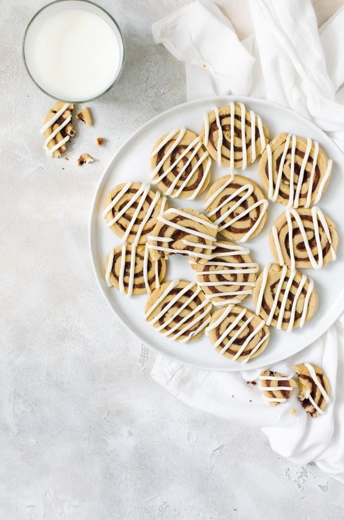 Tasty cinnamon roll cookies