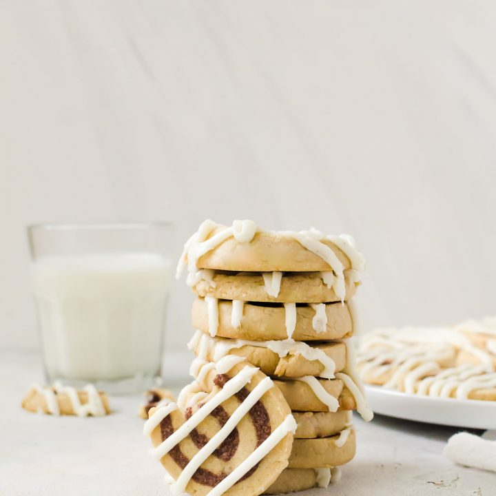 These cinnamon roll cookies taste just like your favorite breakfast item.