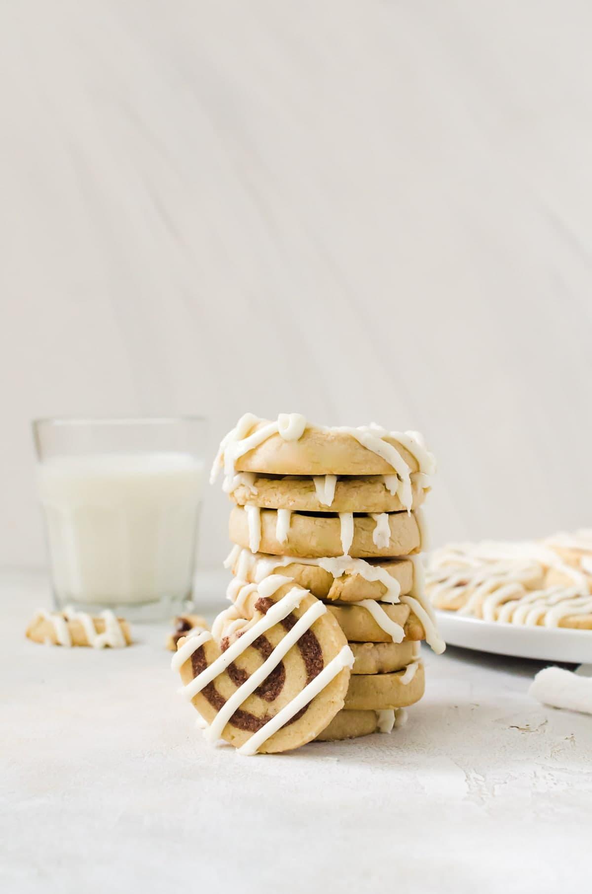 These cinnamon roll cookies taste just like your favorite breakfast item.