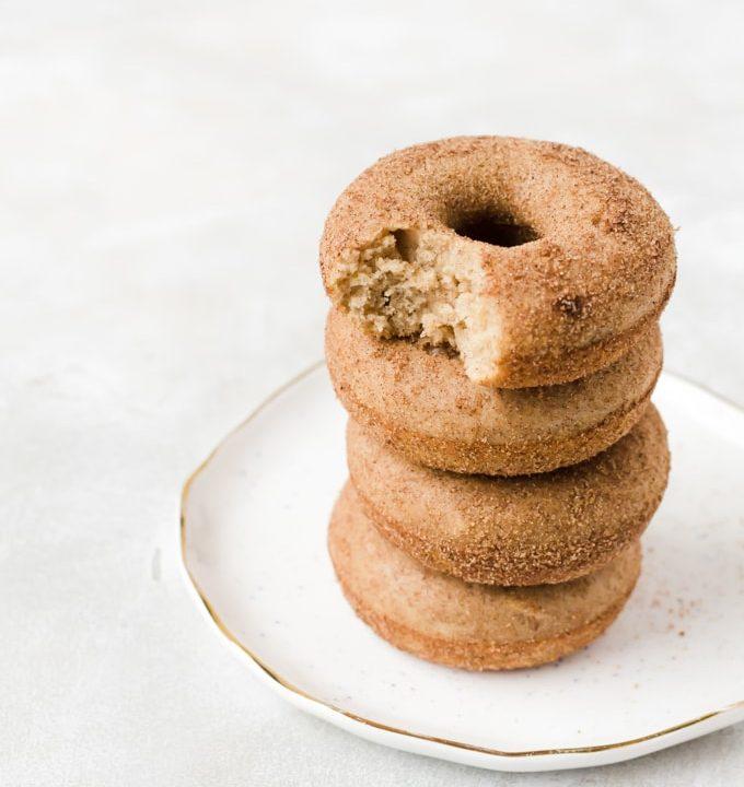 Stacked backed churro doughnuts