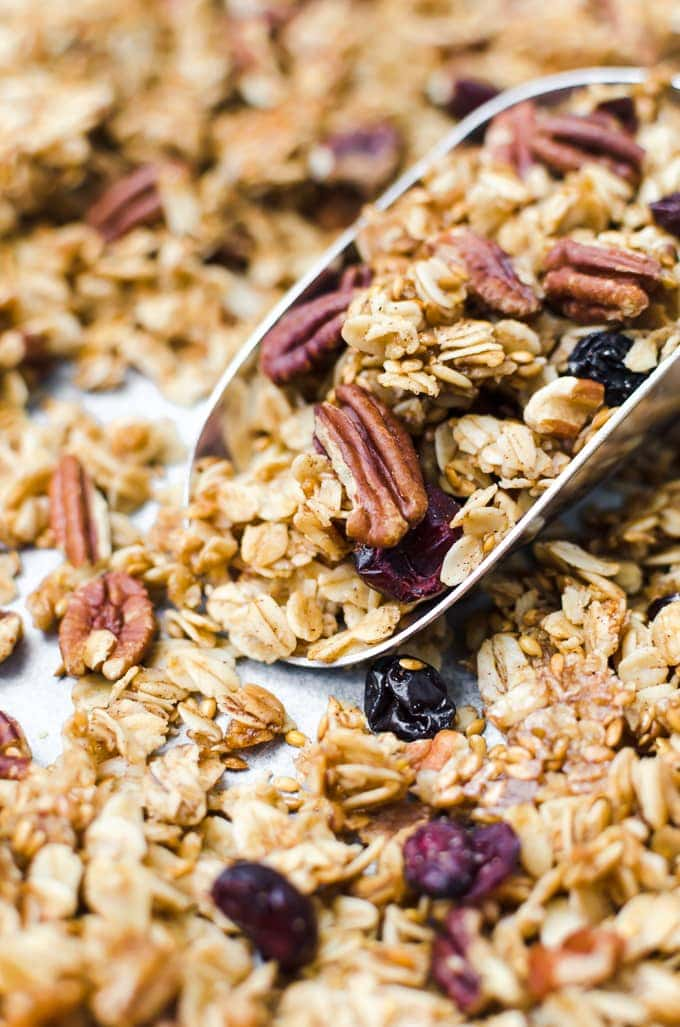 This crunchy, clustery maple pecan granola will be an instant favorite.