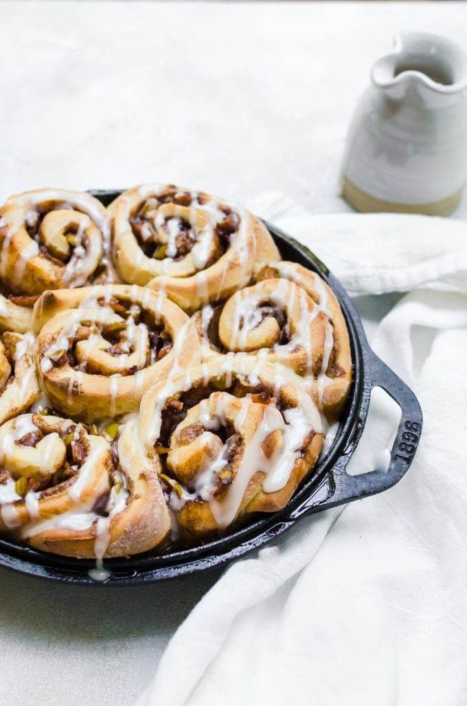 Fall is not complete without a batch of apple cinnamon rolls on the table