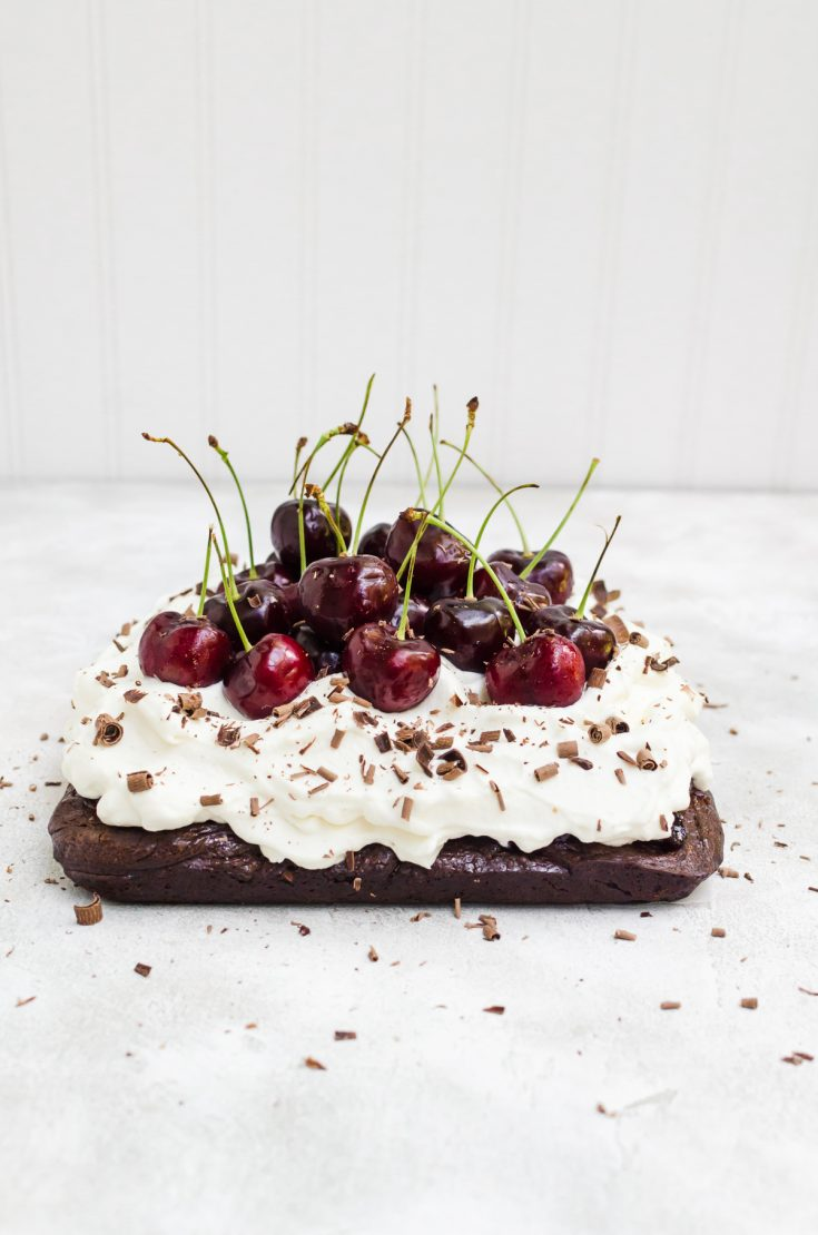 These Black Forest brownies may look like showstoppers, but they are seriously easy to make #brownies #chocolate #easybrownies