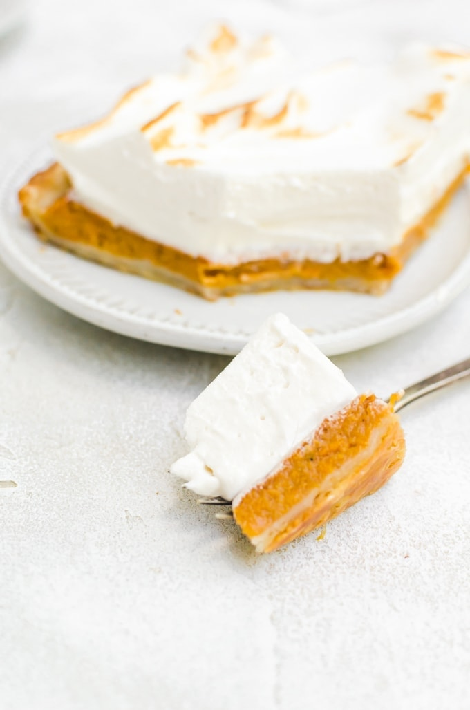 Forkful of maple sweet potato pie