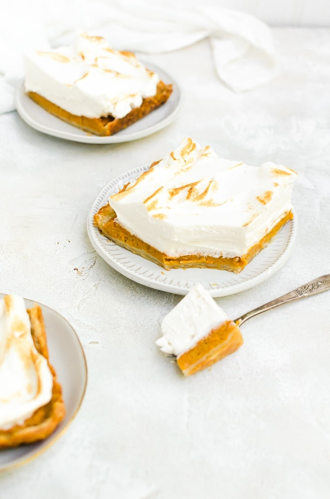 maple sweet potato pie on plates