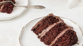 Old-Fashioned Chocolate Cake with Chocolate Frosting