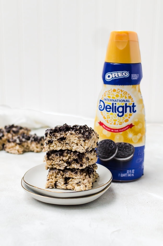 There's nothing better than Oreo rice krispie treats as a snack!