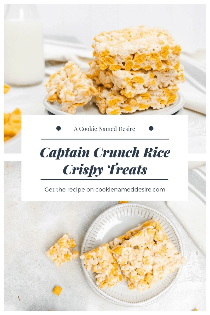 Find out how to make these irresitibly fun captain crunch rice cripsy treats! #ricecrispy #ricekrispie