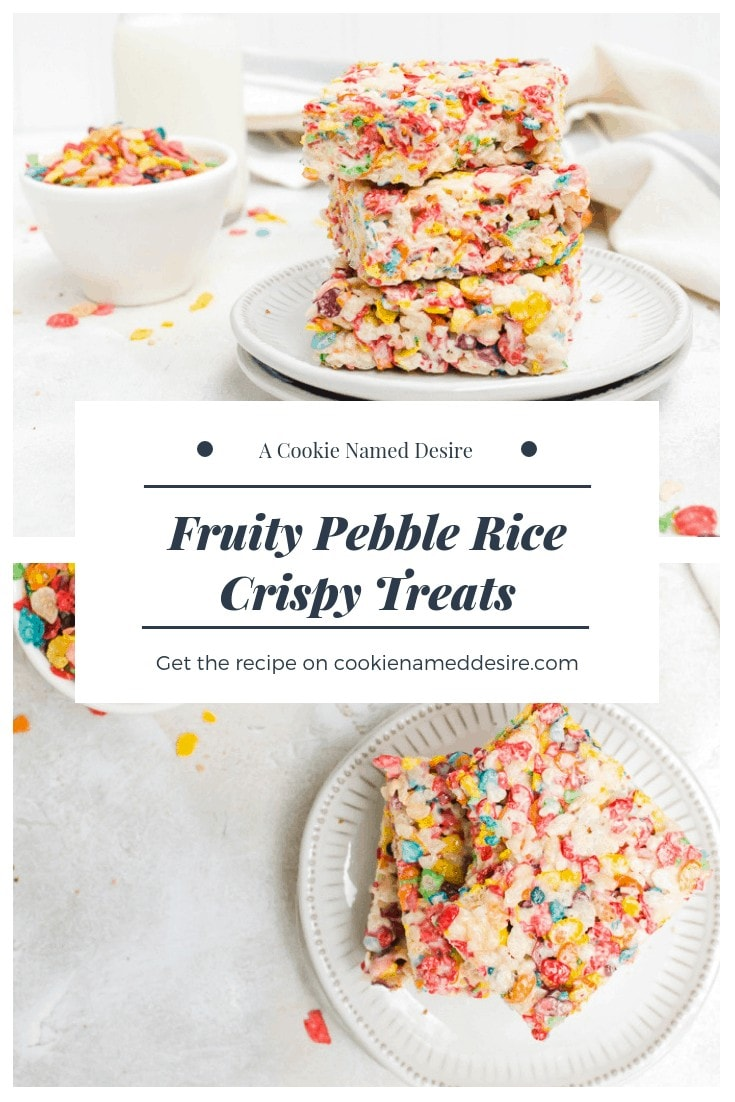 These fruity pebble rice crispy treats are as fun to eat as they are to make #ricecrispy #ricekrispie