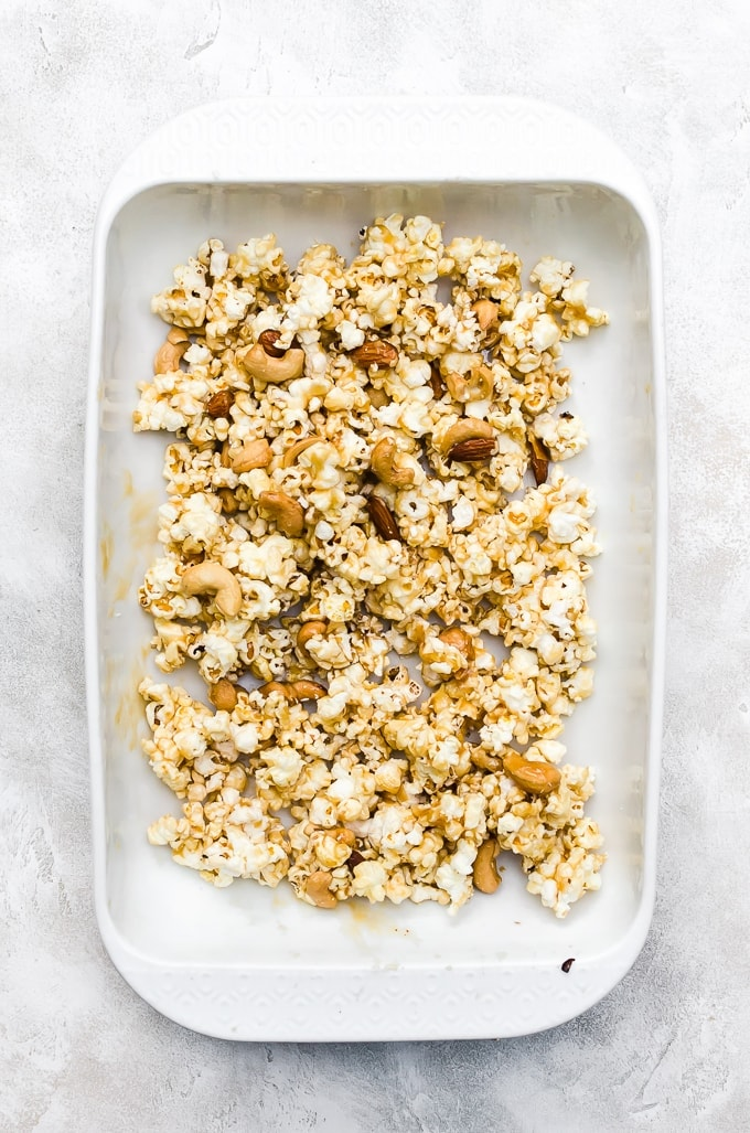 moose munch recipe overhead in a baking pan