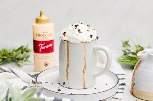 wide shot gingerbread hot chocolate