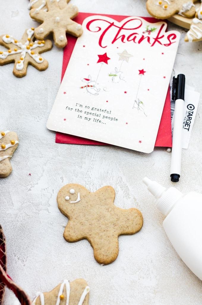cookie wreath tutorial in process