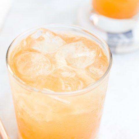 close up pumpkin cocktail