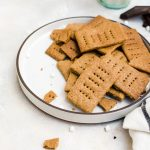 three quarter shot homemade graham crackers