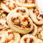 savory palmiers party appetizer close up