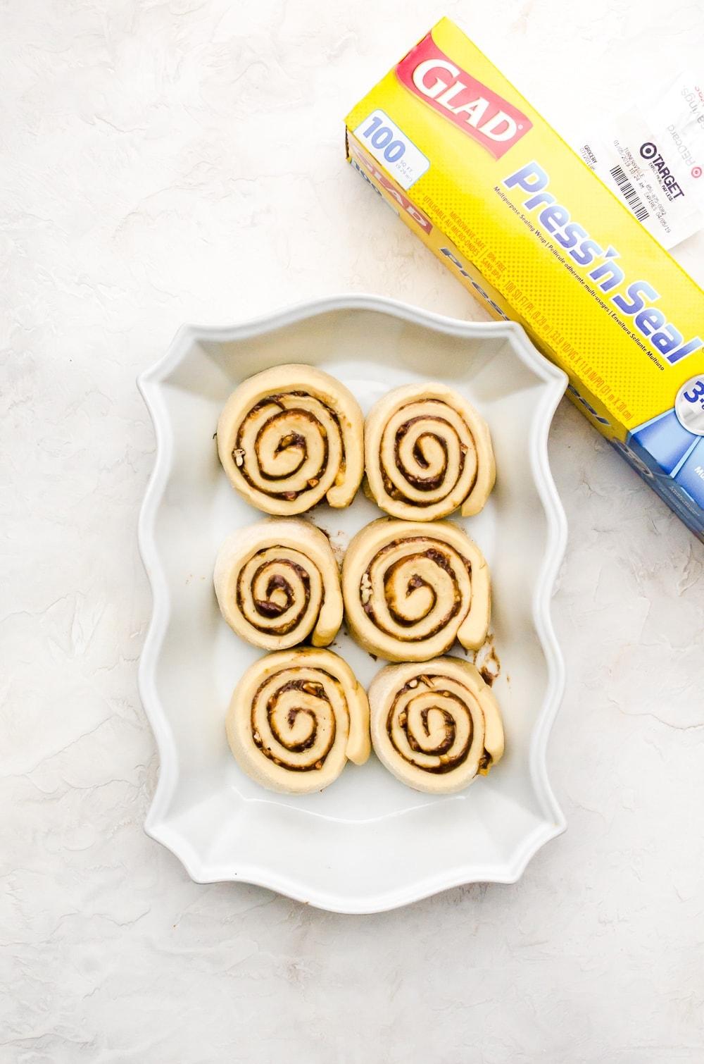 unbaked banana cinnamon rolls