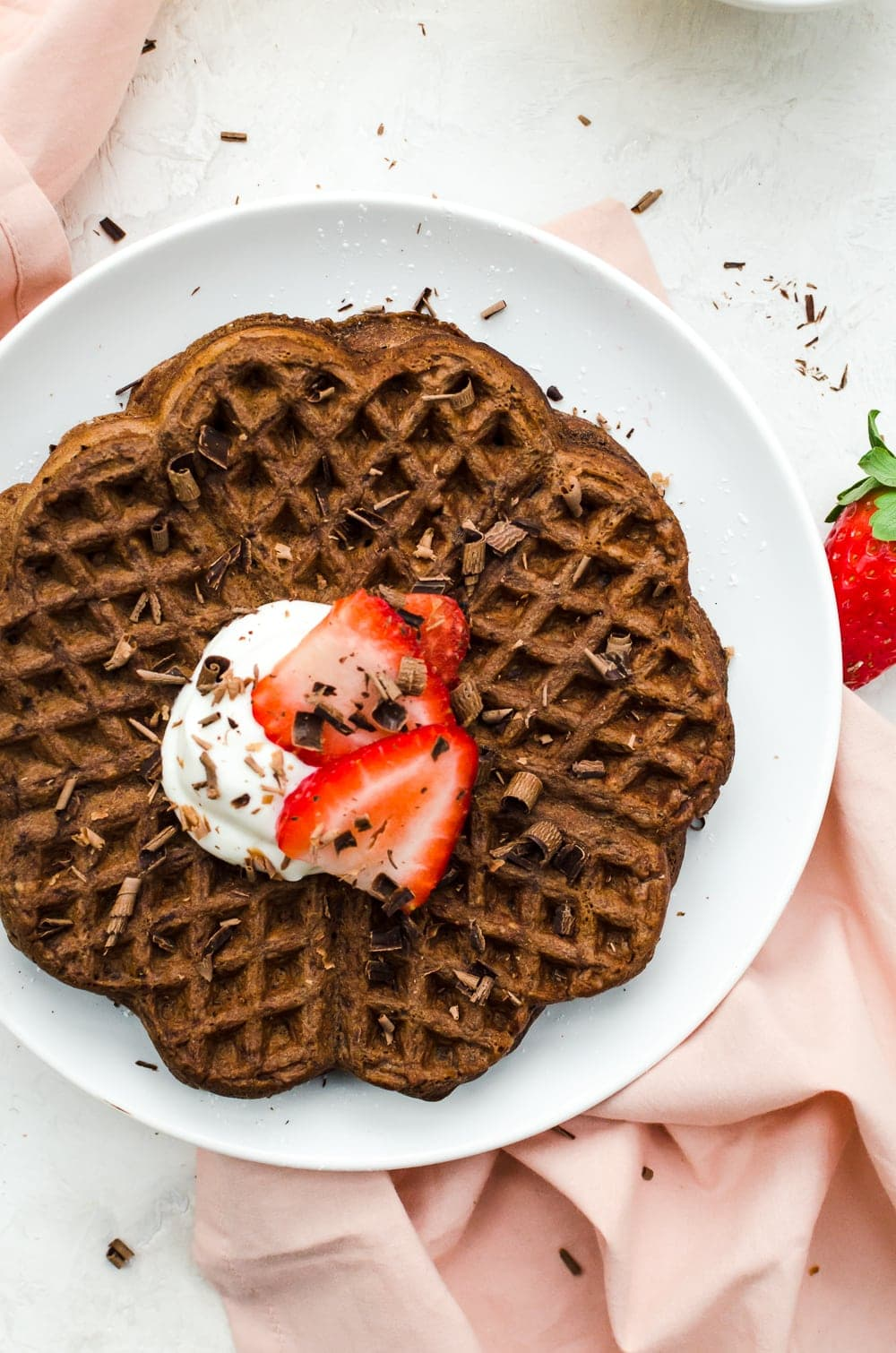 chocolate waffles galentines day