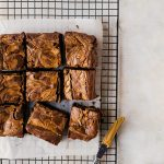 peanut butter brownies overhead