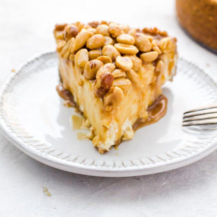 caramel nut cheesecake