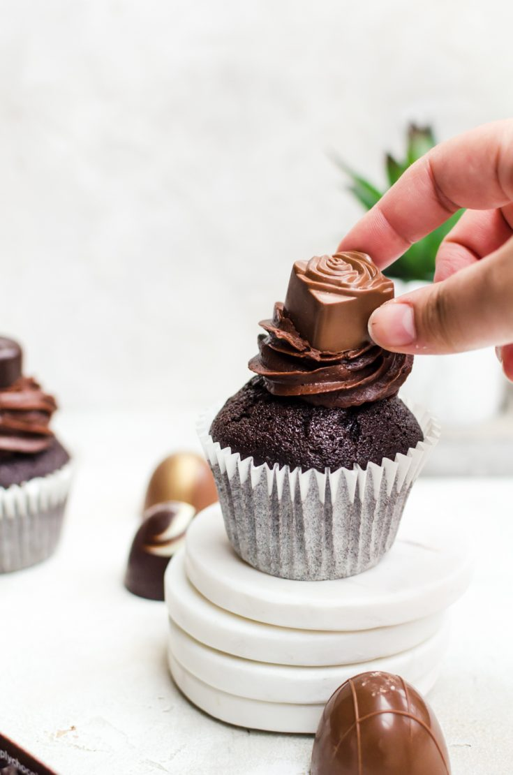 Treat yourself with a double chocolate cupcake #chocolate #cupcake