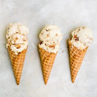 churro ice cream in cones